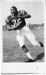 Football Player #22 Posing by North Carolina Agricultural and Technical State University