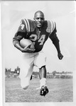 Football Player #24 Posing by North Carolina Agricultural and Technical State University