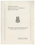 The 81st Annual Commencement of North Carolina Agricultural and Technical State University by North Carolina Agricultural and Technical State University