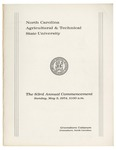 The 83rd Annual Commencement of North Carolina Agricultural and Technical State University by North Carolina Agricultural and Technical State University