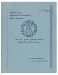 The 86th Annual Commencement of North Carolina Agricultural and Technical State University by North Carolina Agricultural and Technical State University