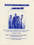 The 41st Sit-In Movement Anniversary Events...Leadership 2001