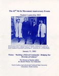 The 43rd Sit-In Movement Anniversary Events...Leadership 2003